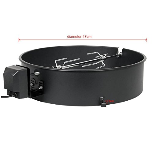 Onlyfire High Heat Resistant Paint Steel Rotisserie Ring Kit for 18-Inch / 18.5-Inch Kettle Grill