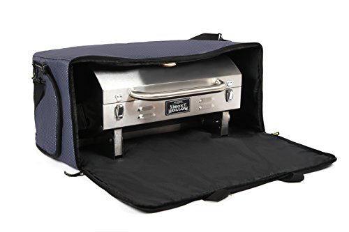 Kenley Smoke Hollow Grill Carry Bag – Storage Case Cover for Smoke Hollow 205 Tabletop Gas BBQ – Pockets for Propane & Accessories – Heavy Duty, Padded & Weatherproof