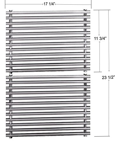 Stainless Steel 7527 9869 7526 7525 Cooking Grids For Select Weber Grill Models (Dimensions: 17 1/4 X 11 3/4″ For each unit, 17 1/4″ X 23 1/2″ For 2 units)