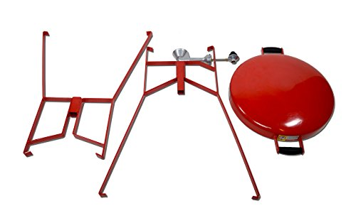 FireDisc – Deep 36″ Backyard Portable Plow Disc Cooker – Fireman Red   Portable Propane Outdoor Camping Grill