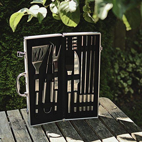 Flamen Bbq Tools Set, 13-Piece Grill Tools Set With 1 Aluminum Case, Heavy Duty Stainless Steel Barbecue Premium Grilling Utensils Accessories for Barbecue (1)