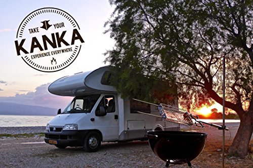 Kanka Grill: Brazilian Style BBQ + rotisserie Cooking Everywhere! an Advanced Electric Rotating spit Grill: Solar + Battery Powered. 100% Portable. Compatible with Any Grill. Cooks Any Food.