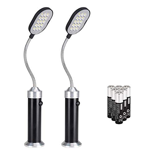 Coquimbo Barbecue Grill Light Magnetic Base Super-Bright LED Lights Flexible Gooseneck LED BBQ Light Any Gas/Charcoal/Electric Grill 6 AAA Batteries (2 Pack)