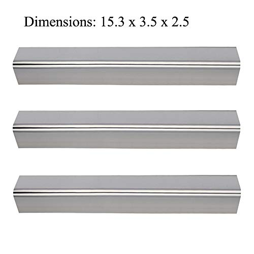 Votenli S763E (3-Pack) Stainless Steel Flavorizer Bars/Heat Plate Replacement for Weber Spirit 200,Spirit 210,Spirit E210,Spirit S210,Spirit E220, S220 Grill Parts