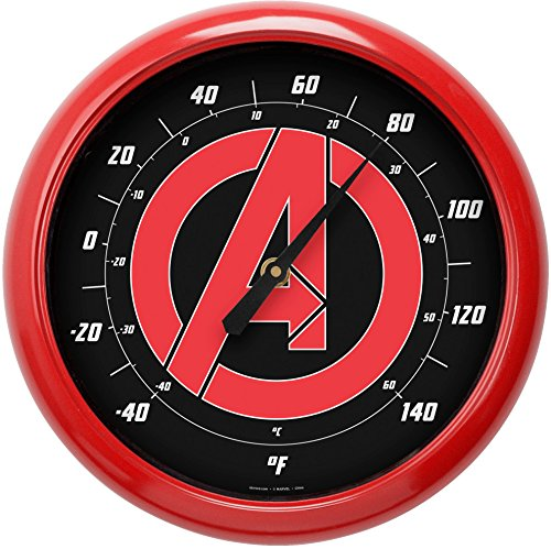 NJ Croce Avengers Logo 10 Inch Outdoor Thermometer