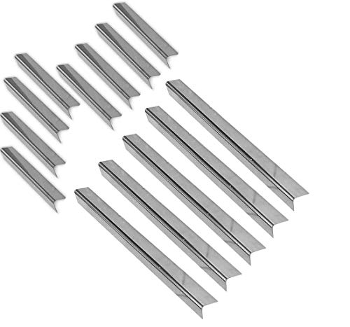 37538 (1.3mm/17Ga.) Stainless Flavorizer for Weber 1100900, 1000, 2000, 3500, IV, Platinum B, I, II Gas Grill Models, ( Set of 13 Bars ) AFTERMARKET
