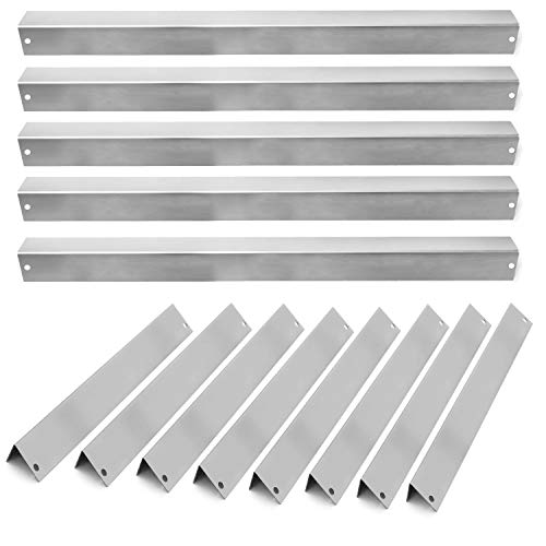 BBQGuys 7538 Stainless Steel Flavorizer Bars for Weber Platinum Series I & II and Genesis 1000-5500 Gas Grills – 13-Pieces