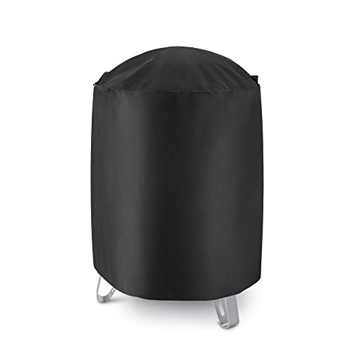 iDepot Outdoor Round Smoker Cover, Heavy Duty Waterproof Dome Vertical Smoker Cover, Fade and UV Resistant Vertical Water Smoker Cover, Cover Size 30″ Dia x 34″ H, Black