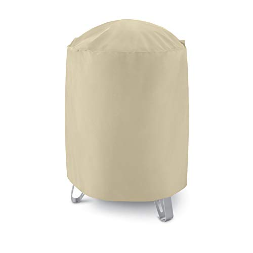 UNICOOK Outdoor Heavy Duty Smoker Cover, 30″ Dia x 36″ H, Perfect for Weber Char-Broil Smokers/Grills, Desert Sand