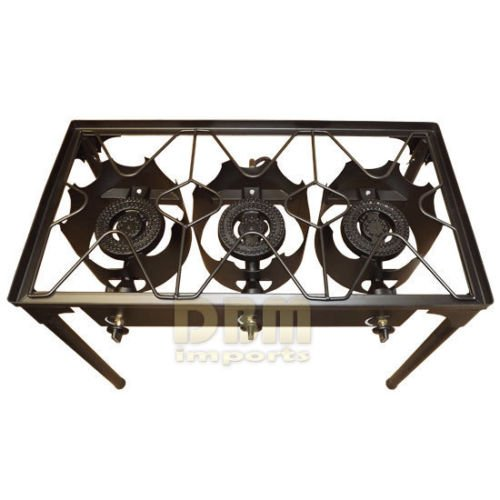 36″ x 22 Triple Propane Burner Stove Stainless Steel Griddle Flat Top Taco Grill