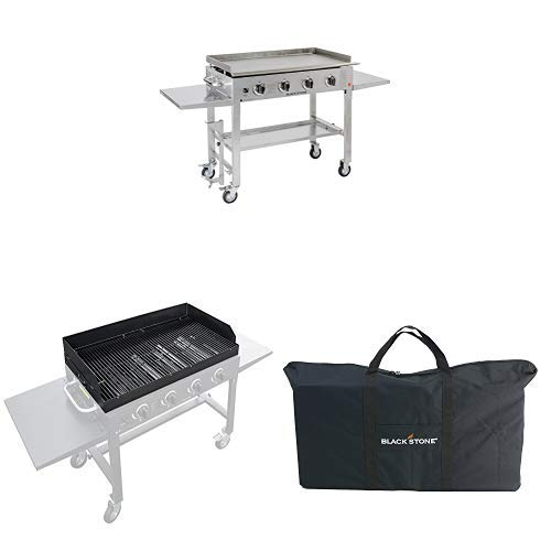 Blackstone 36″ Stainless Steel Gas Griddle w/ Grill Top and Carry Bag
