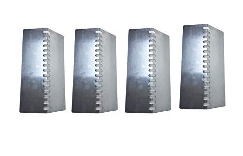 Replace parts 4Pack BBQ Grill Heat Shield for Bull Most Models 12 7/8″ x 7 1/8″ OEM 16520,Steer Premium 69008,69009, Lonestar Select 87048,87049, 7 Burner Premium 18248,18249