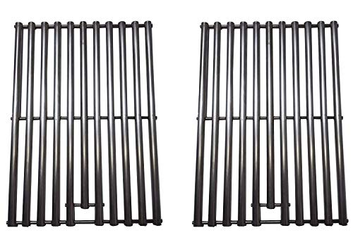 ZLjoint 2 Pack Stainless Steel Cooking Grid for Master Forge GGP-2501, Kenmore 16657, 415.16657900, 415.16657900G & Uniflame GBC750W-C, GBC750W, GBC750WNG-C Gas Grill Models(18-1/4″ x 13-1/8″ Each)