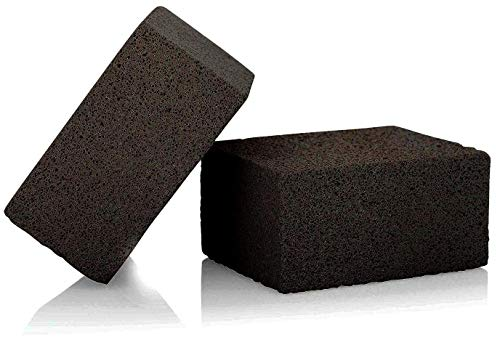 ACS Grill Brick Holder and Grill Brick for Flat top – Cleans Griddles and Grills, 2-Piece Set