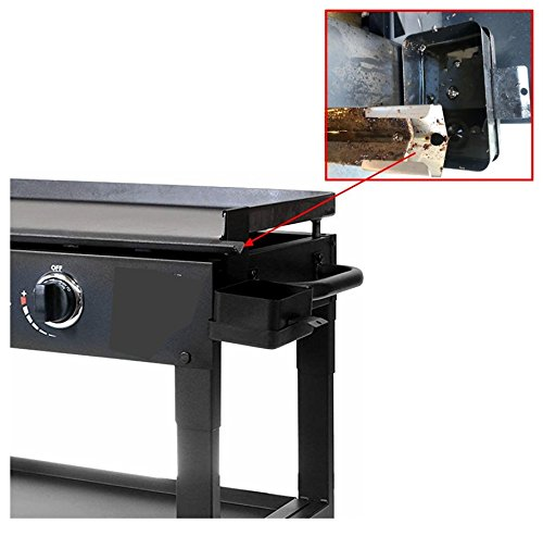 """RunTo Stainless Steel Grease Slide Griddle Mod for 36 inch Blackstone Griddle With Locking Screws (for 36"""" Blackstone Griddle with Side Grease Discharge)"""