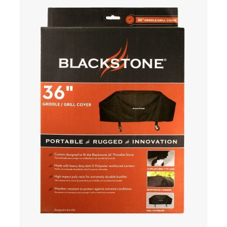 Blackstone Signature Griddle Accessories – 36 Inch Grill and Griddle Cover – Heavy Duty 600 D Polyester – Black (Fits Similar Sized Barbecue) (2 Pack – 36″)