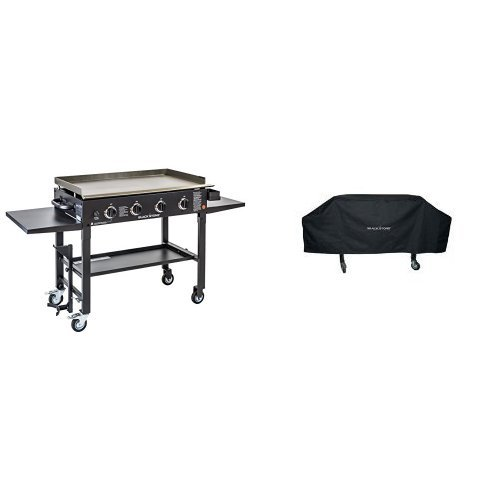 Blackstone 36 inch Outdoor Flat Top Gas Grill Griddle Station – 4-burner – Propane Fueled – Restaurant Grade – Professional Quality – With Cover