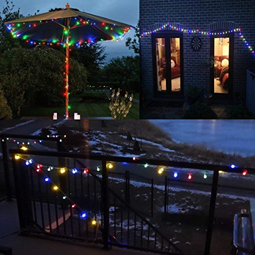 100 LED Globe String Lights, Ball Christmas Lights, Indoor / Outdoor Decorative Light, USB Powered, 39 Ft, Multicolor Light – for Patio Garden Party Xmas Tree Wedding Decoration