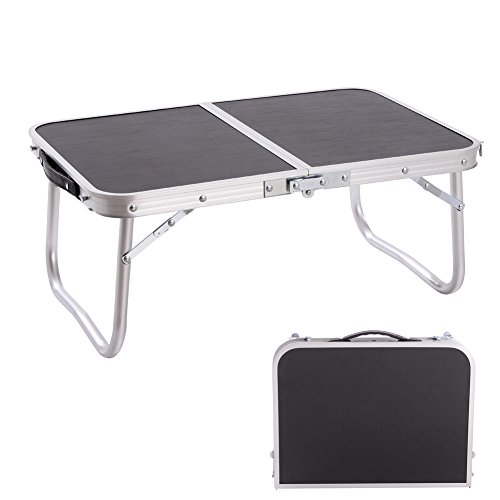 CampLand Mini Table Aluminum Folding Table Outdoor Lightweight Portable Foldable Laptop Tables for Patio, Camping, Garden & Picnic (E)