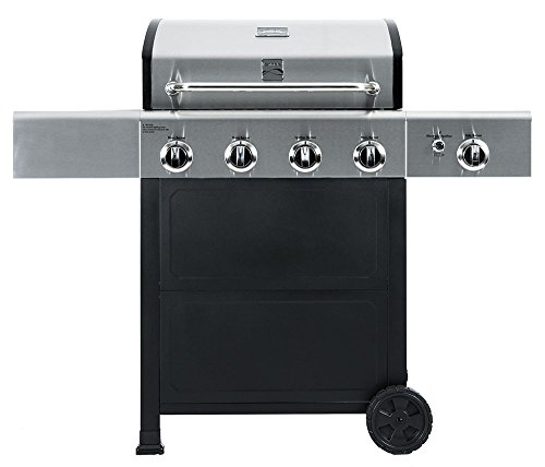 Kenmore  PG-40406SOL Outdoor Patio 4 Burner Gas BBQ Propane Grill With Side Burner in , Black/Stainless Steel