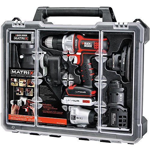 BLACK+DECKER Cordless Drill Combo Kit with Case, 6-Tool (BDCDMT1206KITC)