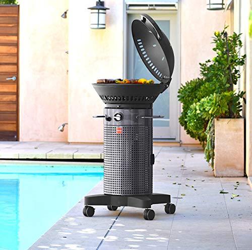 Fuego F21C-H Element Hinged Propane Gas Grill, Dark Gray