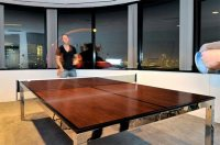 Transformer tables turn dining into billiard and ping-pong ...