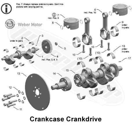 Polaris MSX 150 Crankcase Crankdrive