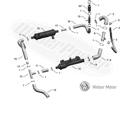 Hydrospace 2005-2012 HSR-S4 Cooling System Water Manifold