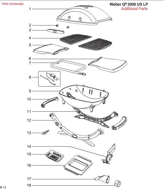 Weber Q Grill Parts For The Q100 through Q3200 Series
