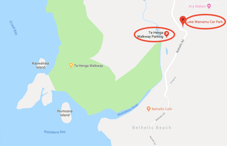 Te Henga Walkway 地理位置