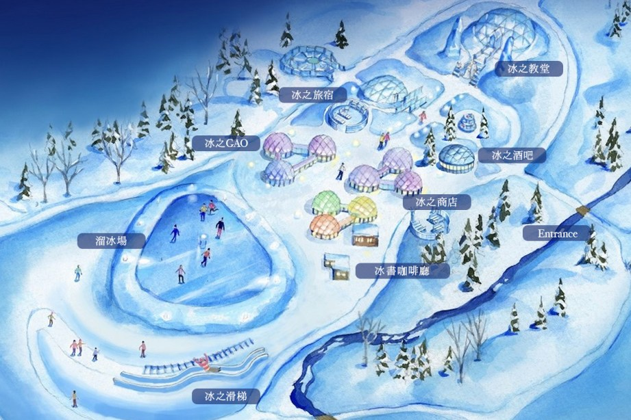 ice village map