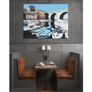 Mockup peinture numérique Vallon des Auffes by webestar Agence de communication Mareille