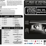 Programme pour le festival de court métrage, http://www.bestoffestival.com/wp-content/uploads/2018/09/Programme-Best-of-festival-2018-bis.pdf