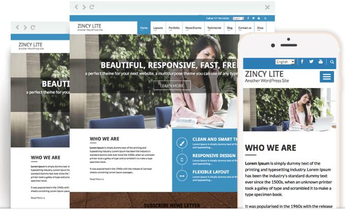 Zincy Lite WordPress Theme