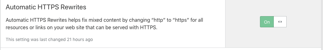 automatically rewrite HTTPS