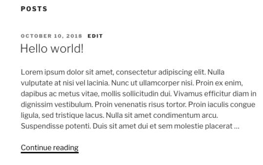wordpress post excerpt default length