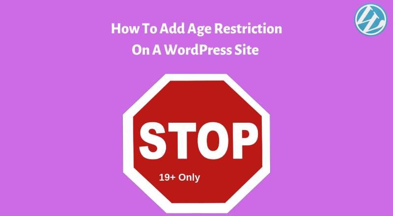 add age verification in WordPress Website