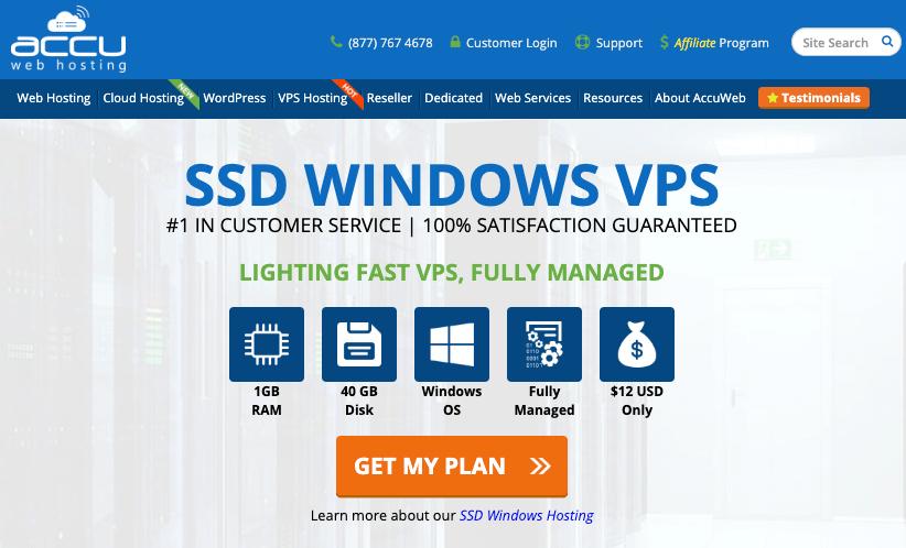 accuweb hosting - best free wordpress hosting