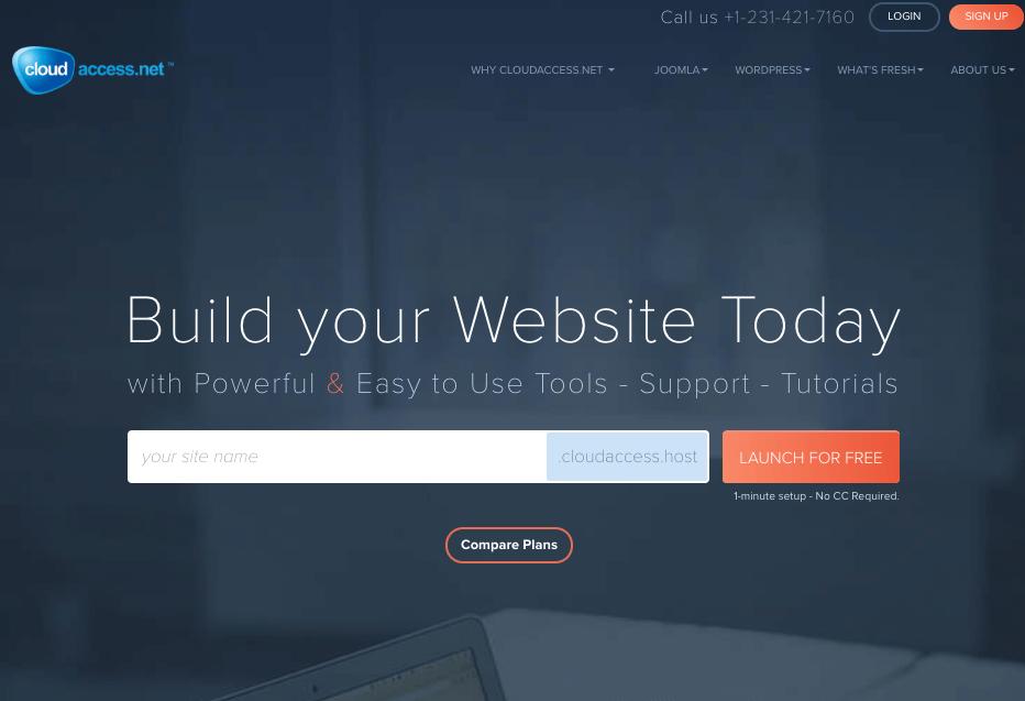 cloudAccess .- wordpress free hosting