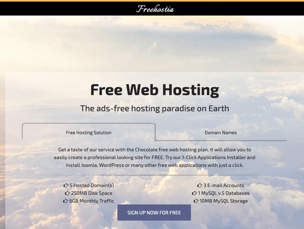 freehostia - a free web hosting