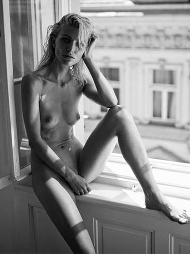 Eva Gii Nude in town by Lukas Dvorak for Sexy Topless  Nude Fashion