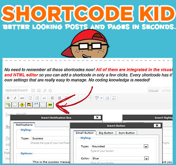 WordPress Shortcode Kid