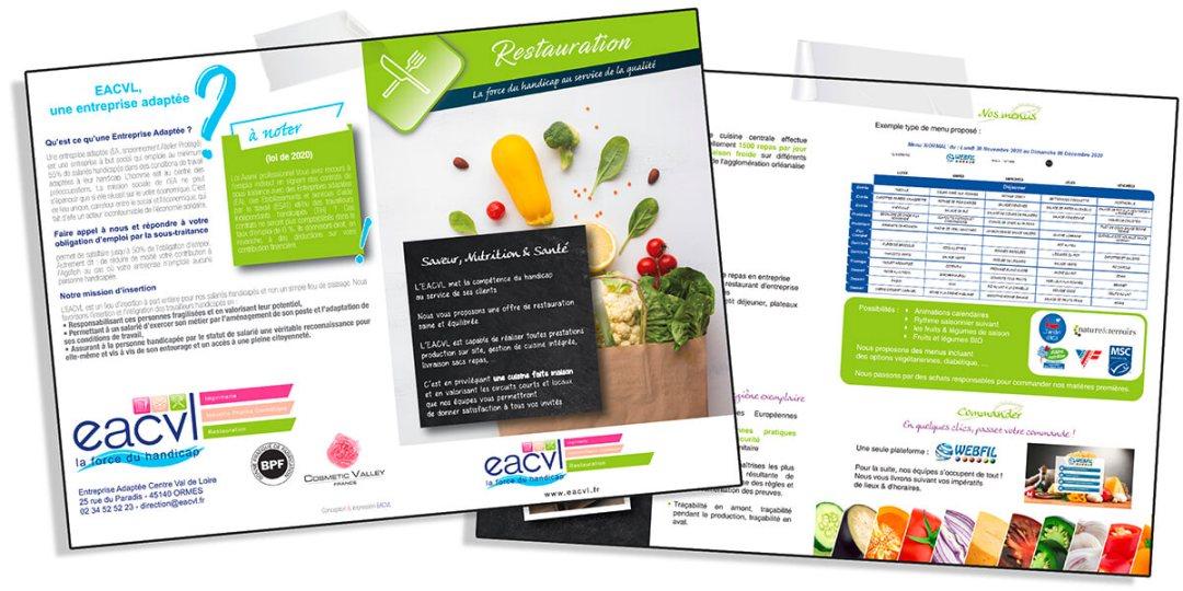 WebFil plaquette de communication d'un client. WebFil global, gestion de la restauration en secteur médico-social.