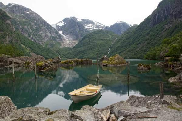 Wanderung zum Gletscher Bondhusbreen am Folgefonna
