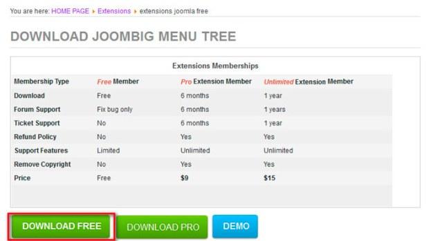 Вертикальное меню для joomla 3