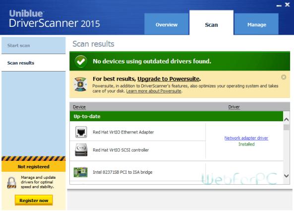 Uniblue Driver Scanner 2015