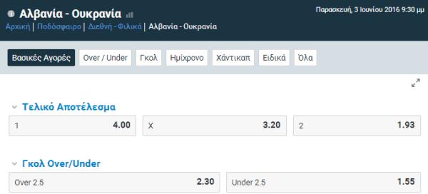 albania - ukraine live streaming kai betting sto stoiximan