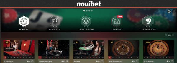 novibet live rouleta kazino nomimo ellada online