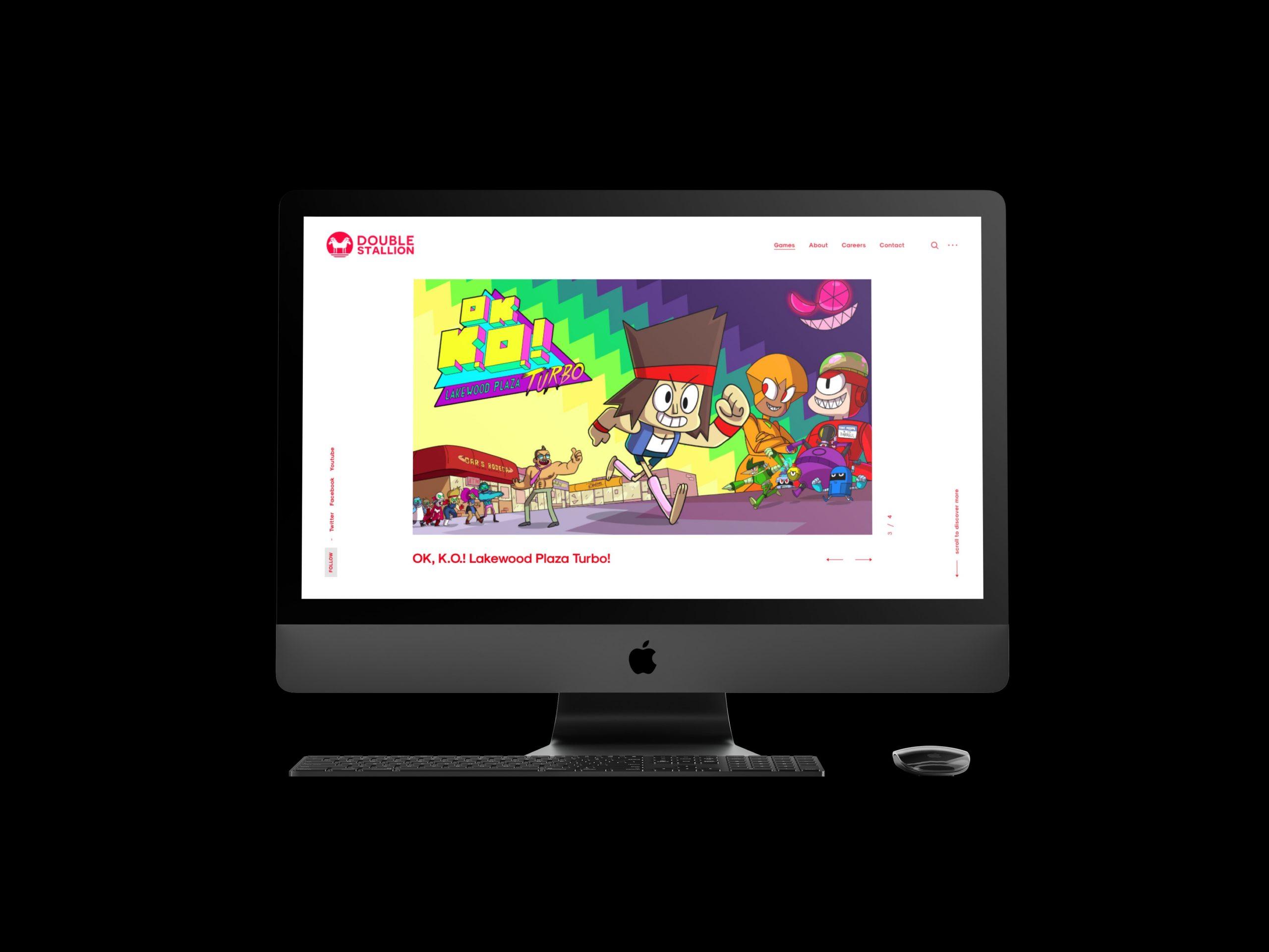 Web design for Montreal based Game Developer Desktop View